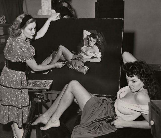 Pin_up_artist_Zo_Mozert_Paints_Jane_Russell